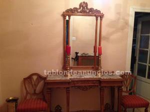 Se venden muebles de recibidor en madera y marmol