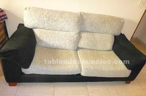 Sofa 3 plazas, reclinable y extensible