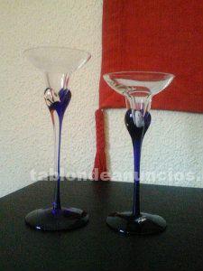 Vendo dos candelabros de cristal marca leonardo