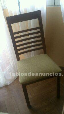 Vendo mesa pino macizo rustica y sillas a juego opcionales