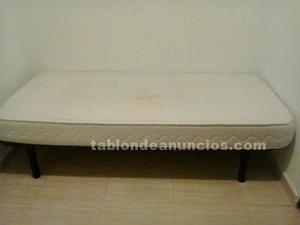 Vendo somier con patas y colchón 190 x 90 cm