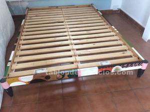 Vendo somier de madera de ikea de 140x205