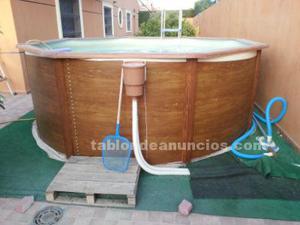 Piscina desmontable con depuradora madrid posot class for Vaso piscina poliester segunda mano
