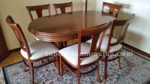 Venta de mesa y 6 sillas.