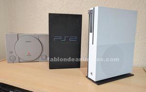 Xbox one s + ps1 + ps2 + juegos + accesorios