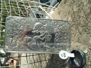 Antiguo lingote de plata tibetana  gramos. Regalo de