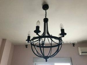 Cabecero de forja + lampara de forja