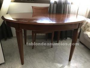 Conjunto de mesa y 6 sillas madera maciza