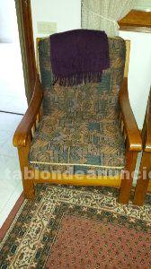 Conjunto sofas rusticos de pino macizo
