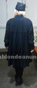 Estupendo abrigo de piel de ante