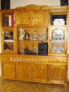 Vitrina salón madera de pino