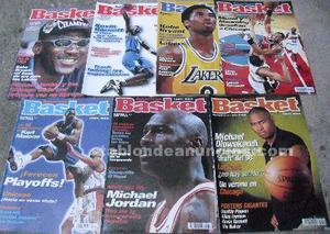 Lote de 7 revistas ''american basket'' () - michael