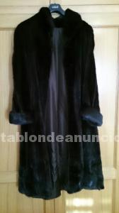 Abrigo largo de visón