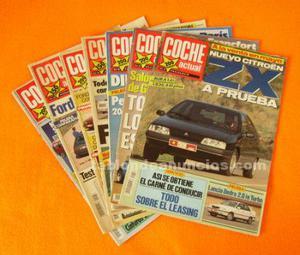 Coche actual. Lote 7 revistas periodo