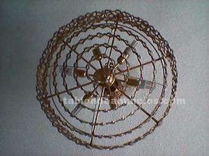 Lampara clásica pata techo de bronce