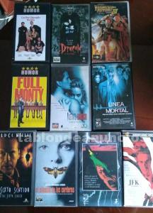 Lote 10 películas en vhs.