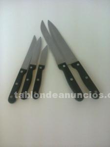 Lote 5 cuchillos mazo cocina.