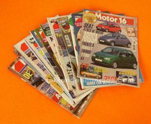 Motor 16. Lote 12 revistas. Periodo
