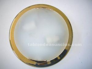Plafon dorado de metal y cristal
