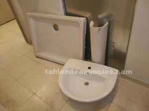 Plato ducha y lavabo roca