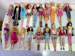 Se venden muñecas barbie, bratz y otras con su ropa
