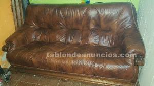 Sofa tres plazas piel