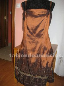 Vestido marron chocolate