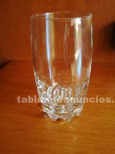 9 vasos de vidrio altos