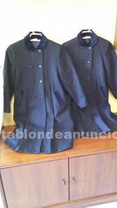 Abrigos niña de lana azul marino marca doyga nuevos sin