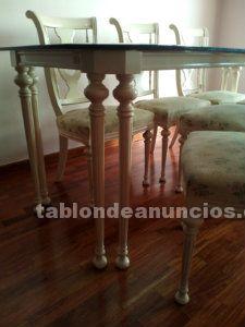 Conjunto comedor: mesa + 6 sillas