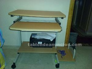 Mesa Ordenador Adaptable Con Ruedas Y Giratoria Posot Class