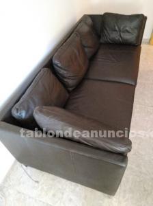 Sofa piel ikea nuevo tres plazas modelo stockolm