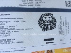 Entradas musical el rey león