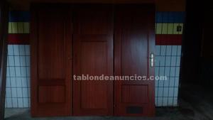 3 puertas de madera con guias