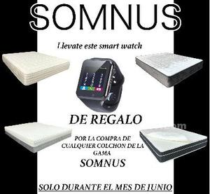 Colchon mod.galaxy v8 de 150x190 regalo smart watch