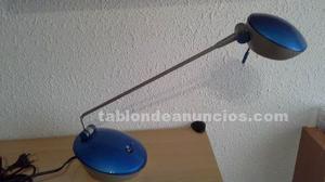 Lampara flexo halogena de metal y plastico azul 50w
