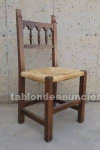 Lote 6 sillas de enea