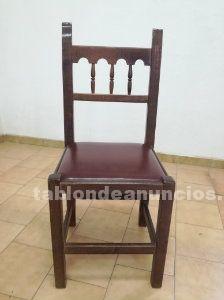 Lote de 9 sillas de madera