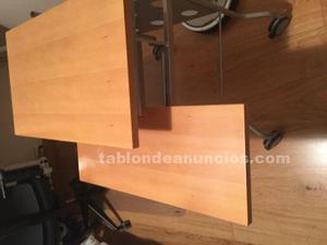 Mesa de pc aluminio y madera