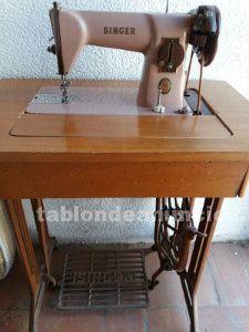Máquina de coser singer antigua y funciona