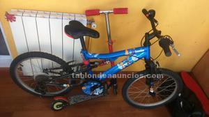 Vendo bicicleta para niño y patinete