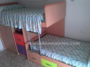 Dormitorio literas camas tren