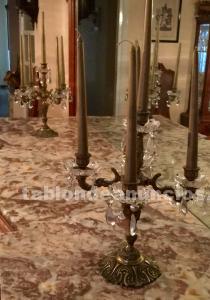Candelabros de bronce y cristal de swarovsky