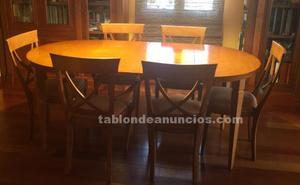Conjunto de comedor: mesa extensible y sillas