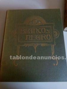 Revistas blanco y negro encuadernadas en tomos