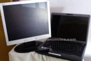 Vendo monitor + ordenador portatil