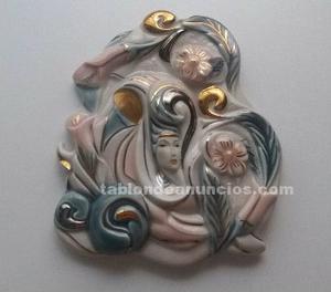 Figura galos de porcelana para colgar