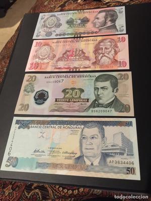 Set de Billetes de Honduras 5-50 Lempiras  UNC SC