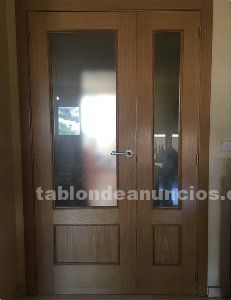 9 puertas de interior color pino con molduras