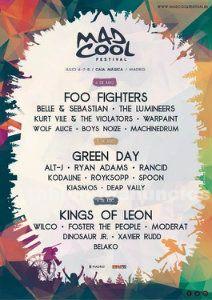 Se vende 1 abono doble 3 días mad cool festival